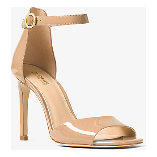 MICHAEL MICHAEL KORS Lena Patent-Leather Sandal - Elevate Your Workweek And Evening Ensembles With Our...