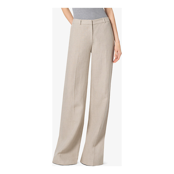 MICHAEL MICHAEL KORS Linen Wide-Leg Trousers - Pressed Creases Complement The Low-Slung Slouchy Shape Of...