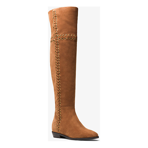 MICHAEL MICHAEL KORS Malin Grommet Suede Boot - Featuring Gilded Grommets With Openwork Threading This...