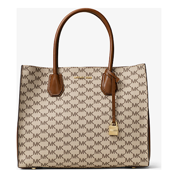 MICHAEL MICHAEL KORS Mercer Large Heritage Signature Tote - Crafted From Coated Canvas And Printed With Our Heritage