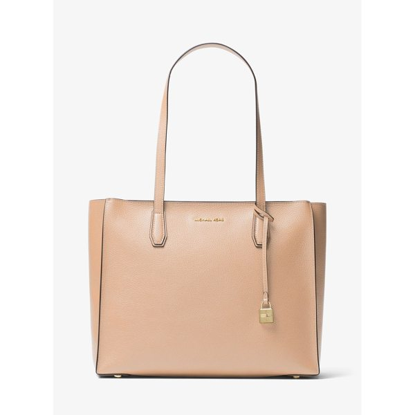 MICHAEL MICHAEL KORS Mercer Large Top-Zip Leather Tote - Renewed For The Season In A Streamlined Shape Our Mercer...