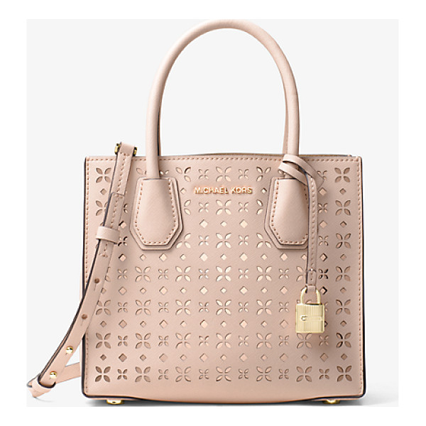 MICHAEL MICHAEL KORS Mercer Perforated Leather Crossbody - Crafted From Perforated Saffiano Leather Our Streamlined