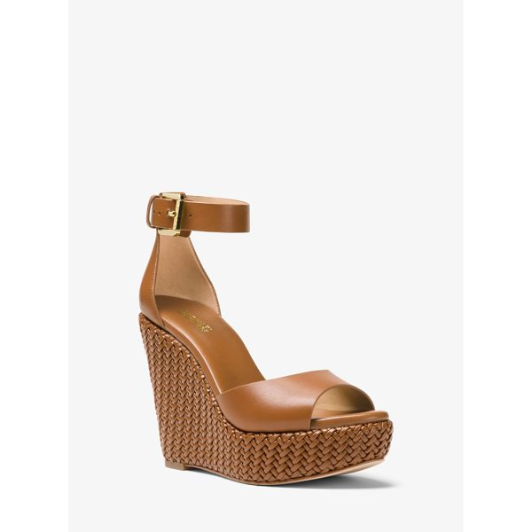 MICHAEL MICHAEL KORS Mika Leather Wedge - Our Mika Wedge Is An Effortlessly Chic Option For The City...