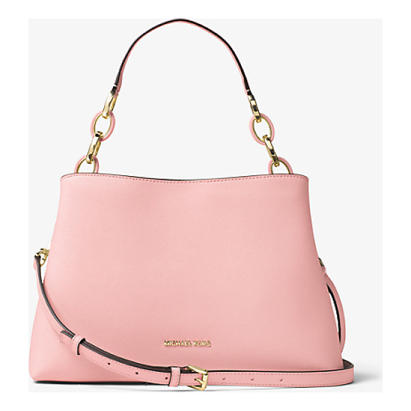 MICHAEL MICHAEL KORS Portia Large Saffiano Leather Shoulder Bag - A Study In Easy Over-The-Shoulder Style This Luxe Bag Is...