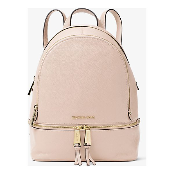 MICHAEL MICHAEL KORS Rhea Medium Leather Backpack - Laid-Back Yet Luxe Our Rhea Backpack Redefines Big-City...