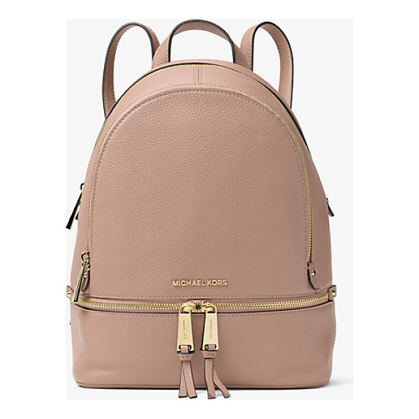 MICHAEL MICHAEL KORS Rhea Small Leather Backpack - Laid-Back Yet Luxe Our Rhea Backpack Redefines Big-City...