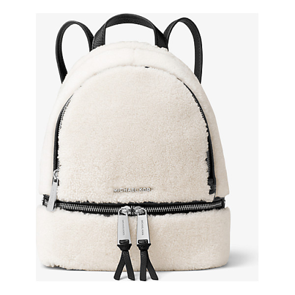 MICHAEL MICHAEL KORS Rhea Small Shearling And Leather Backpack - Laid-Back Yet Luxe Our Rhea Backpack Redefines Big-City...