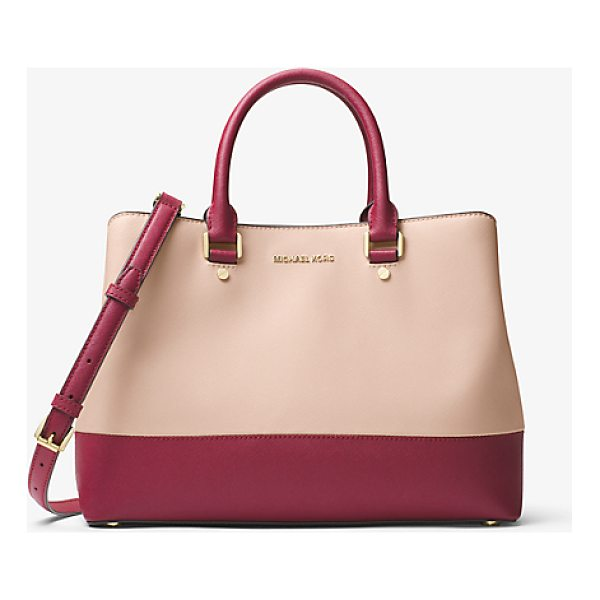 MICHAEL MICHAEL KORS Savannah Color-Block Saffiano Leather Satchel - Combining Expert Craftsmanship With Sleek Functionality Our...