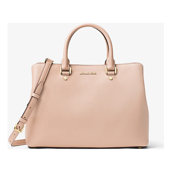 MICHAEL MICHAEL KORS Savannah Large Saffiano Leather Satchel - Combining Expert Craftsmanship With Sleek Functionality Our