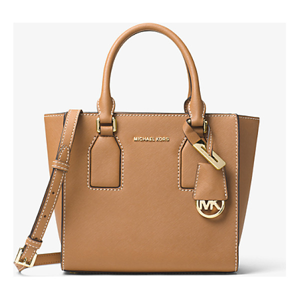 MICHAEL MICHAEL KORS Selby Leather Messenger - Clean Lines Combine With Soft Pebbled Leather For A...