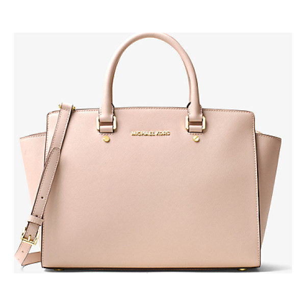 MICHAEL MICHAEL KORS Selma Large Saffiano Leather Satchel - Architectural And Unique This Spacious Satchel Adds
