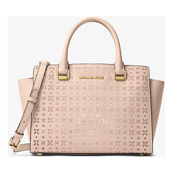 MICHAEL MICHAEL KORS Selma Medium Perforated Leather Messenger - Our Selma Messenger Masters The Balance Between Edge And