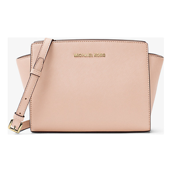 MICHAEL MICHAEL KORS Selma Medium Saffiano Leather Messenger - Our Selma Messenger Masters The Balance Between Edge And...