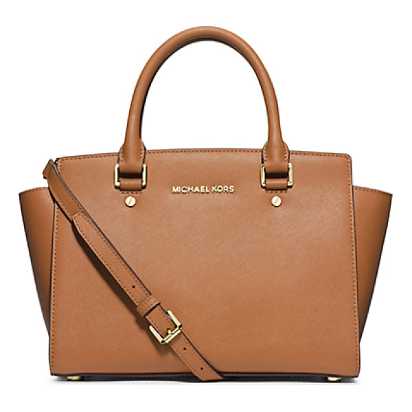 MICHAEL MICHAEL KORS Selma Saffiano Leather Medium Satchel - Get A Handle On Timeless Style With Our Treasured Selma...