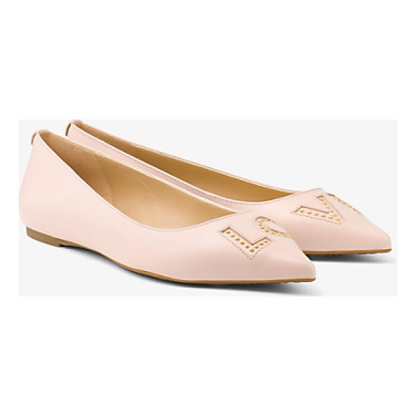 MICHAEL MICHAEL KORS Sia Love Studded Leather Flat - A Relevant Update To A Timeless Silhouette Our Sia Flats...