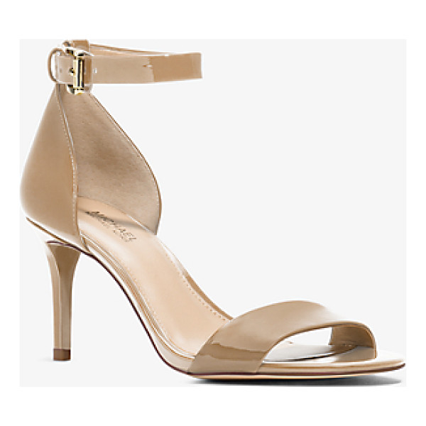 MICHAEL MICHAEL KORS Sienna Patent-Leather Sandal - With A High-Gloss Patent-Leather Design And Sleek Stiletto...