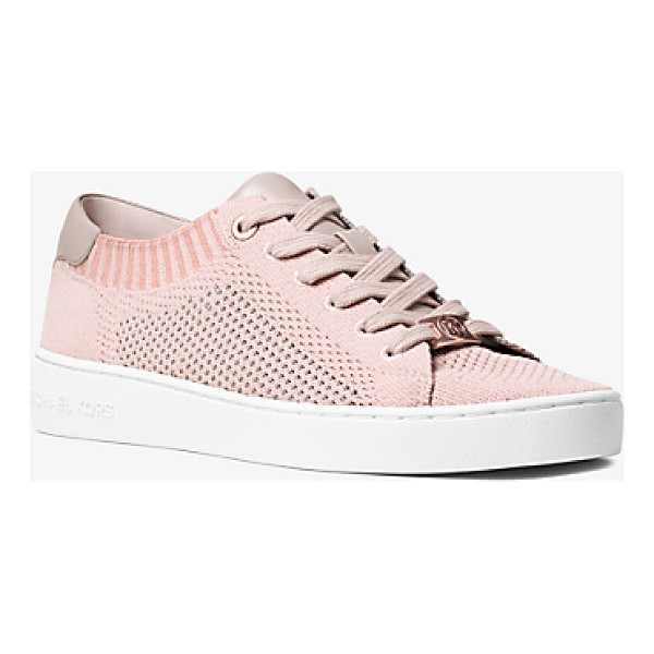 MICHAEL MICHAEL KORS Skyler Leather And Knit Sneaker - Designed In Soft Knit Construction With Smooth Leather At...
