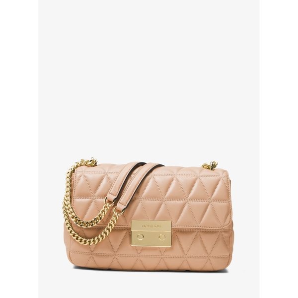 MICHAEL MICHAEL KORS Sloan Large Quilted-Leather Shoulder Bag - Renewed For The Season In A Pyramid Quilt The Sloan...