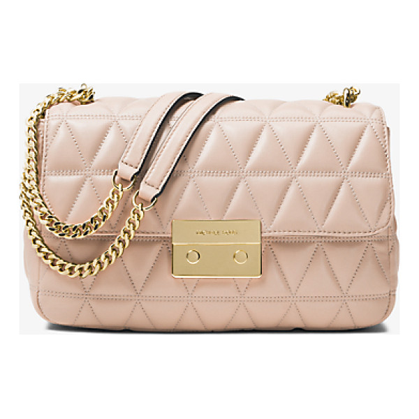 MICHAEL MICHAEL KORS Sloan Large Quilted-Leather Shoulder Bag - Renewed For The Season In A Pyramid Quilt The Sloan