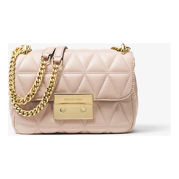 MICHAEL MICHAEL KORS Sloan Small Quilted-Leather Shoulder Bag - Renewed For The Season In A Pyramid Quilt The Sloan...