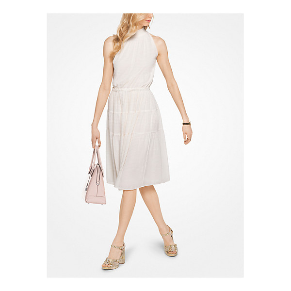 MICHAEL MICHAEL KORS Smocked Chiffon Halter Dress - For Days That Turn Into Evenings Try This Fabulous Little...