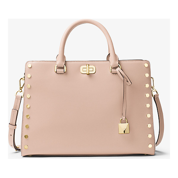 MICHAEL MICHAEL KORS Sylvie Large Studded Leather Satchel - Introducing The Sylvie: A Studded Leather Satchel That's