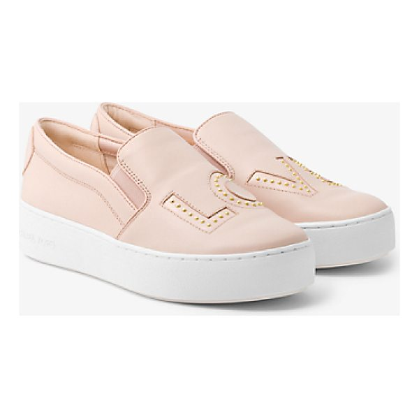 MICHAEL MICHAEL KORS Trent Love Leather Slip-On Sneaker - Our Trent Slip-On Sneakers Make A Statement This Season...