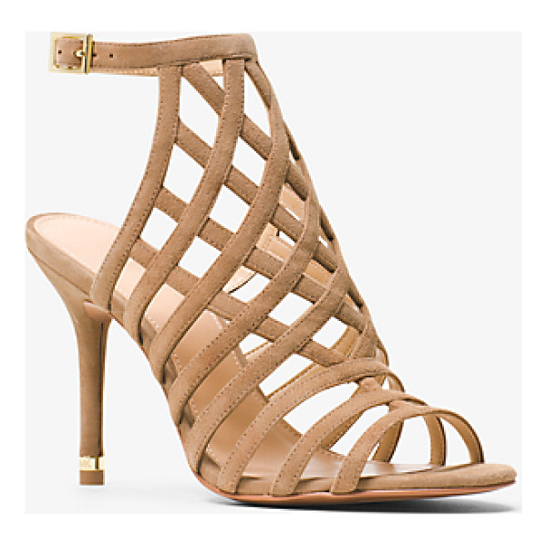 MICHAEL MICHAEL KORS Trinity Suede Sandal - Crafted From Sumptuous Suede Our Trinity Sandals Strike The