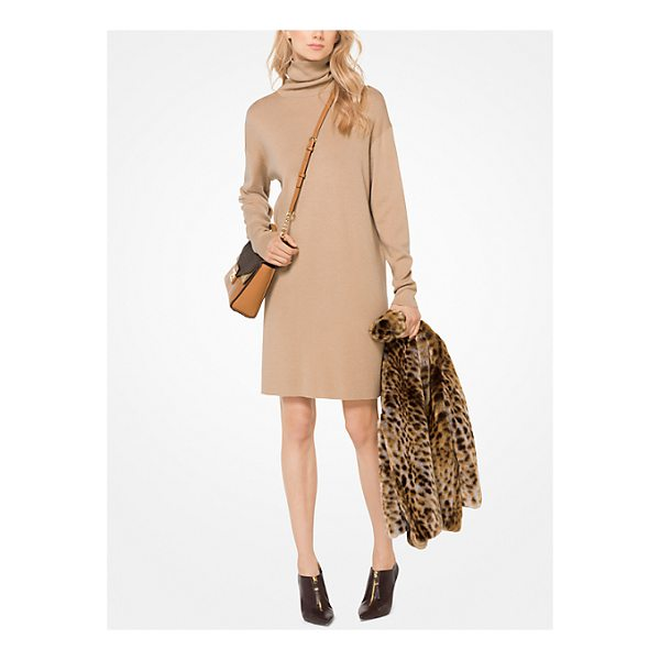 MICHAEL MICHAEL KORS Turtleneck Sweater Dress - Designed In A Relaxed Fit This Turtleneck Sweater Dress Is...