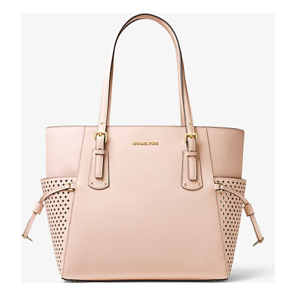 MICHAEL MICHAEL KORS Voyager Small Saffiano Leather Tote - Crafted From Rich Saffiano Leather The Voyager Tote...