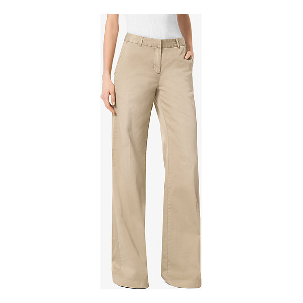 MICHAEL MICHAEL KORS Wide-Leg Chino Trousers - Executed In A Voluminous Wide-Leg Silhouette The Chino...