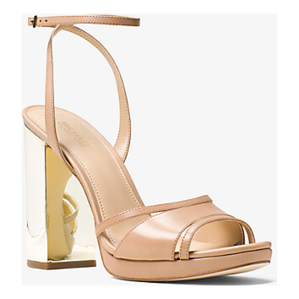 MICHAEL MICHAEL KORS Yoonie Leather Sandal - The Classically Femme Yoonie Sandals Take A Glamorous Turn...