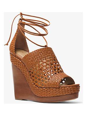 Michael Kors Collection Angela Woven Leather Wedge