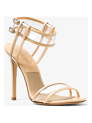 Michael Kors Brittany Leather And Vinyl Sandal