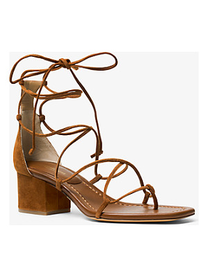 Michael Kors Collection Ayres Suede Lace-Up Sandal