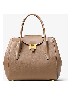 MICHAEL KORS COLLECTION Bancroft Large Calf Leather Satchel