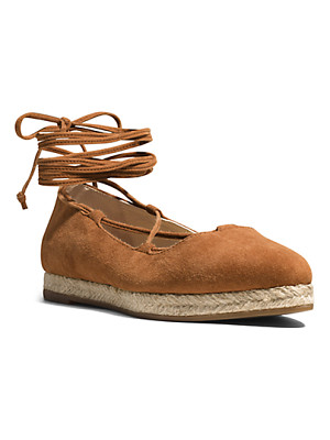 Michael Kors Collection Cadence Suede Flat