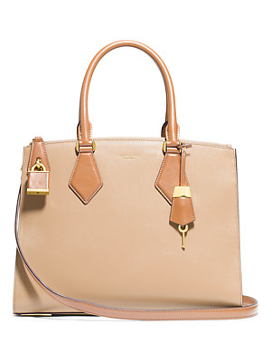 MICHAEL KORS COLLECTION Casey Large Leather Satchel