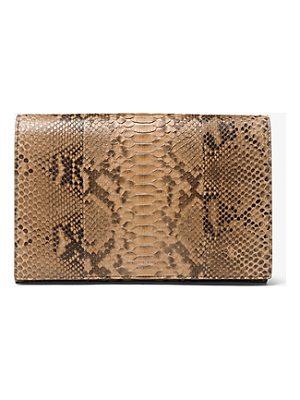 MICHAEL KORS COLLECTION Chrissy Slashed Python Clutch