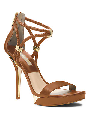 MICHAEL KORS COLLECTION Fariha Leather Platform Sandal