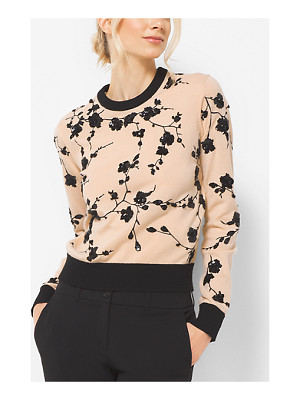 Michael Kors Collection Floral-Embroidered Cashmere Sweater