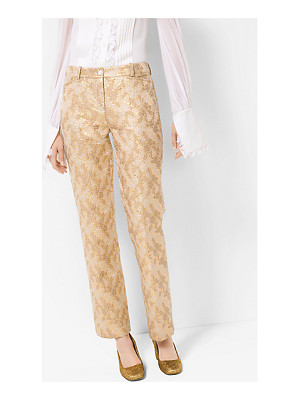 Michael Kors Collection Floral Metallic Jacquard Trousers