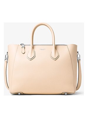 Michael Kors Collection Helena Large French Calf Leather Satchel