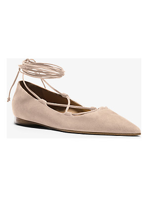 MICHAEL KORS COLLECTION Kallie Runway Suede Lace-Up Flat