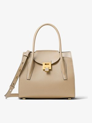 Michael Kors Collection Bancroft Medium Pebbled Calf Leather Satchel