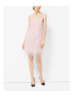Michael Kors Collection Ostrich Feather-Embroidered Chantilly Lace Slip Dress