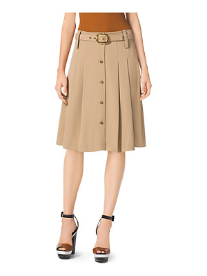 MICHAEL KORS COLLECTION Pleated Wool-Gabardine Skirt