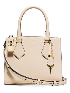 Michael Kors Collection Casey Small Leather Satchel
