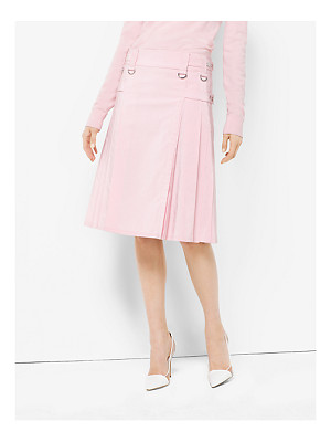 Michael Kors Collection Washed Silk And Cotton-Faille Utility Kilt