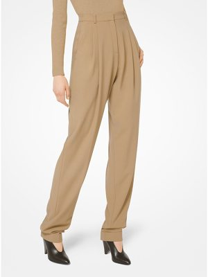 Michael Kors Collection Wool-Serge Pleated Trousers